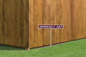 How Far Off The Ground Should A Wood Fence Be Outdoor Essentials