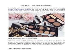 top private label makeup panies