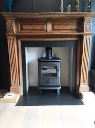 wood burning stove installation in