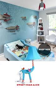 Elephant Decor With Toy Blue Table Lamp Nursery Kids Room Decor The Sweet Home Make