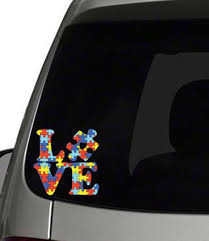 Autism Awareness Decal Car Decal Love Puzzle Piece Decal Etsy