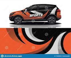 Sport Car Decal Wrap Design Vector Eps 10 Stock Illustration Illustration Of Design Rally 172849554