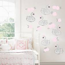 Wall Pops Pink Swan Song Wall Decal Dwpk2706 The Home Depot