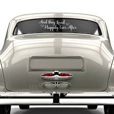 Happily Ever After Sticker Just Married Car Decal Wedding Window Decal White Vinyl 30 X 9 Siocc3wd Siocc3wd 22 82