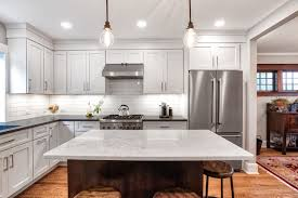pendant lights over the kitchen island