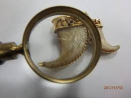genuine gold tiger claw pendant
