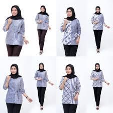 Untuk model atasan batik terbaru anda bisa menggunakan model rompi batik dengan baju dalam polosan. Model Baju Batik Wanita Terbaru 2020 Atasan Lengan Panjang Blouse Wanita Biru Navy Shopee Indonesia