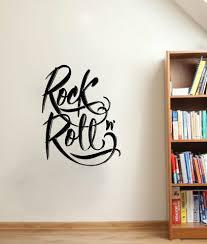 Brayden Studio Claris Calligraphy Rock N Roll Graffiti Vinyl Graphic Word Wall Decal Wayfair