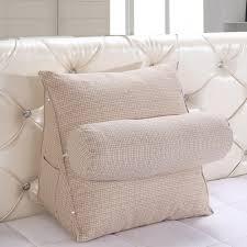 Flip Wedge Pillow Reading Wedge Pillow Bolster Pillow Cotton Linen Blend  Fabric Fiber Filler - Www.cushionsbay.com
