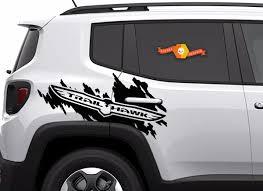 Product Jeep Renegade Cherokee Trail Hawk Trailhawk Side Splash Logo Graphic Vinyl Decal