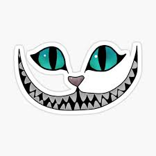 Cheshire Cat Sticker By Lyssaisacat Redbubble