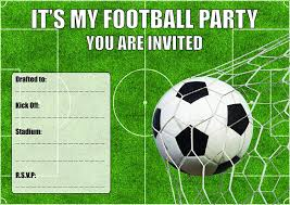 Amazon Com Clayfrog 10 Football Theme Birthday Party Invitations