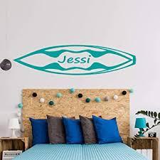 Amazon Com Personalized Name Surfboard Wall Decal Custom Name Surf Wall Sticker Decal Monogram Girls Boys Room Childrens Nursery Wall Decor Baby