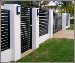 45 unique modern fence design ideas to