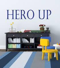 Hero Up Wall Decal Super Hero Squad Decor Vinyl Decal Sticker Etsy
