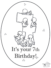Hoera 7 Jaar Kleurplaten Verjaardag