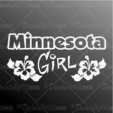 Minnesota Girl Decal Minnesota Girl Car Sticker New Designs