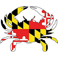 Amazon Com Hz Graphics Maryland Flag Crab Vinyl Decal Wall Laptop Bumper Sticker 5 Home Kitchen