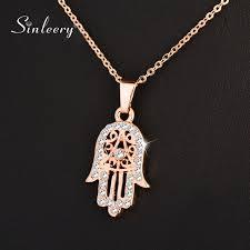 hand of fatima hamsa necklace pendants