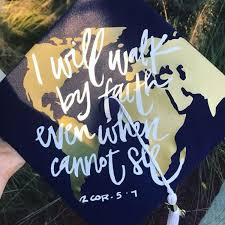 I Will Walk By Faith Graduation Hat Decal Victoriasmonograms