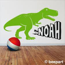 Dinosaur Wall Decal T Rex Sticker Tyrannosaurus Rex Wall Decal Kids Room Decor Custom Name Decal Gift For Boys Personalized Decal