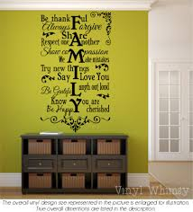 Vinyl Wall Art Family Rules Be Thankful Always Forgive Share Respect One Another Show Compassion We Make Mistakes Decal Mvdpr0065 Vinylwhimsy On Artfire