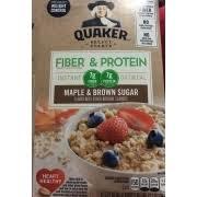 quaker instant oatmeal fiber protein