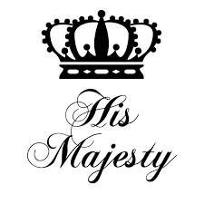 His Majesty The King Crown V2 Wall Sticker Decal World Of Wall Stickers