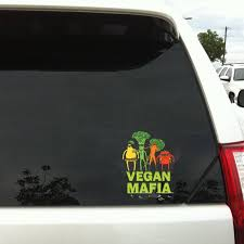 Vegan Mafia Car Sticker Car Decal Wall Decal Vegan Art Etsy