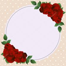 Greeting Card With Roses Can Be Used As Invitation Card For