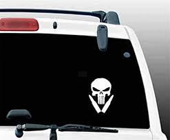 Amazon Com Aqeuno Car Decal Car Sticker 9 5x14cm Punisher Skull Car Sticker And Decals Punisher Movie Classiccar Sticker For Car Laptop Window Sticker Home Kitchen