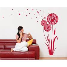 Dandelion Seeds Wall Decal Floral Wall Decal Sticker Mural Vinyl Art Home Decor 3864 White 16in X 35in Walmart Com Walmart Com