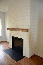 gas fireplace with simple mantel