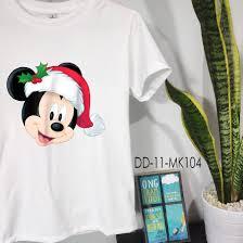 Áo Thun Chuột Mickey (Có Size Trẻ Em) Mouse in Santa Hat Holiday ...
