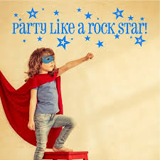 Party Like A Rock Star Wall Decal Removable Rock Star Wall Etsy