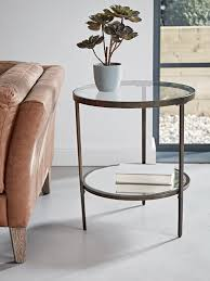 glass display side table table decor