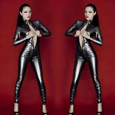 y zipped open crotch patent leather