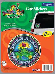 Lifes A Trip Peace Frogs Car Sticker Peace Frogs Creemers Enterprise Llc