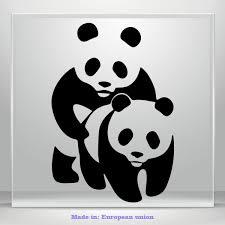 Panda Bear Decals Funny Jdm Auto Car Bumper Window Vinyl Decal Sticker Laptop 3m