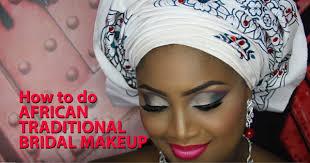 african bridal makeup tutorial