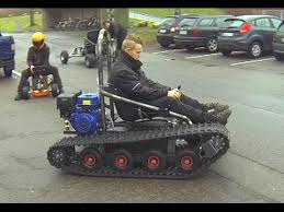 home made tracked vehicle asphalt and