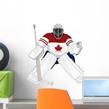 Team Canada Hockey Goalie Wall Decal Wallmonkeys Com