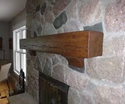 rustic beam mantel and corbels 7