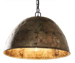 galvanised iron dome ceiling light