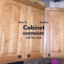 how to replace kitchen cabinet hardware