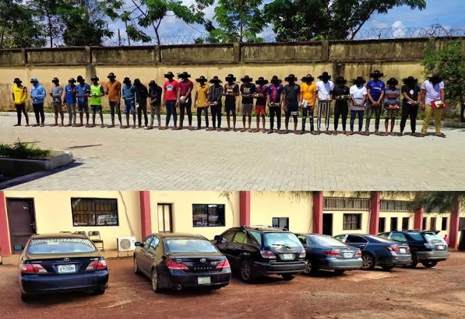 """Image result for EFCC Arrest, Parade 27 Suspected Internet Fraudsters In Enugu State"""""""