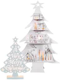 warm white wooden light up christmas