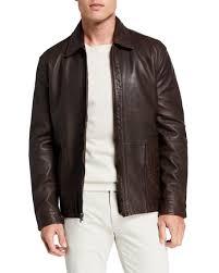 perforated napa leather jacket