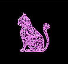Kitty Decal Intricate Kitty Cat Decal Henna Cat Decal Car Decal Vinyl Decal Truck Auto Decal Kitty Decal Window Decal Custom Sticker Henna Cat Stickers Car Window Stickers Window Decals