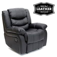 seattle black leather recliner armchair